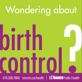 Toronto Public Health resource about birth control