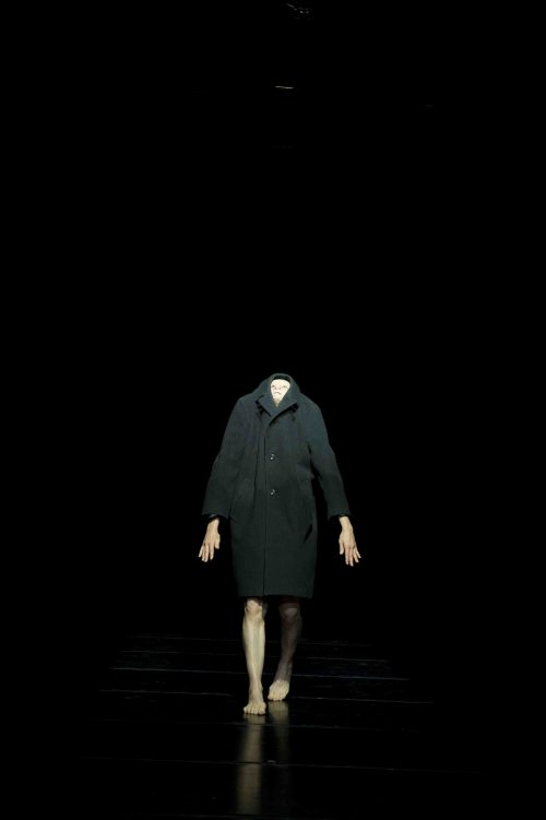Kitt Johnson dancer. Green Coat, no head,