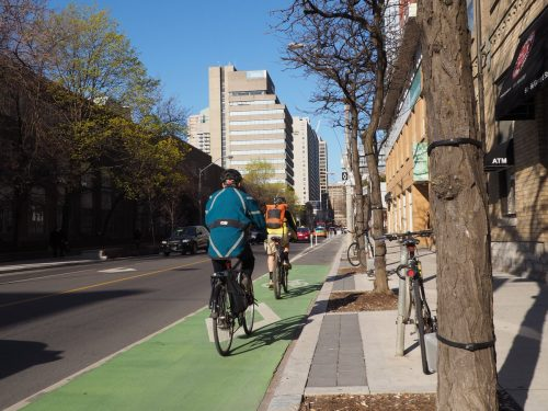 Image of cyclists on a cycle track