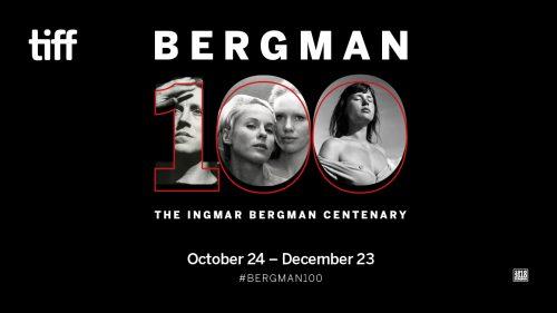 Bergman 100 - word mark, white text, black background.