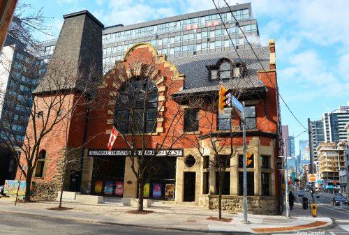 Exterior, Alumnae Theatre - winter 2017.