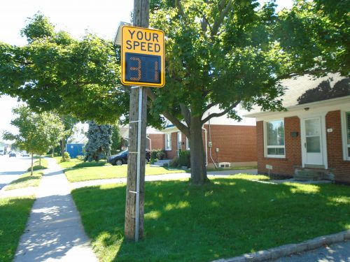 Image of watch you speed sign