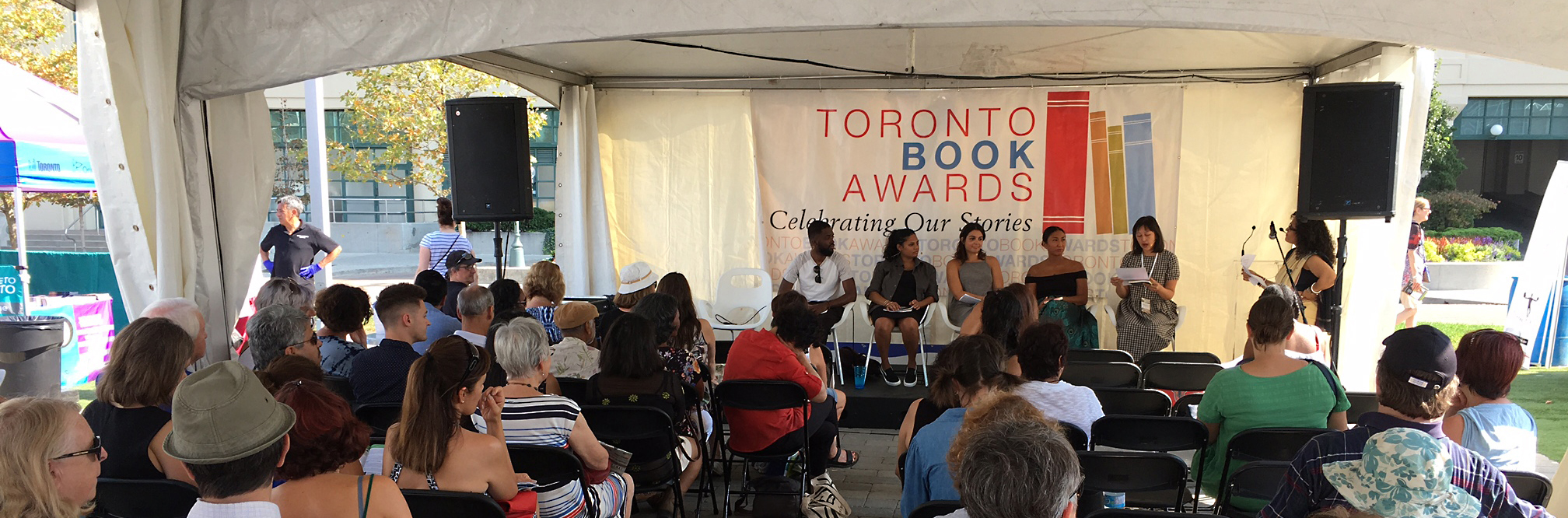 Finalists for the 2018 Toronto Book Award were Kerri Sakamoto (Floating City), David Chariandy, Brother), Phoebe Wang (The Unpublished City), Lee Maracle (My Conversations with Canadians) and Carrianne Leung (That Time I Loved You)