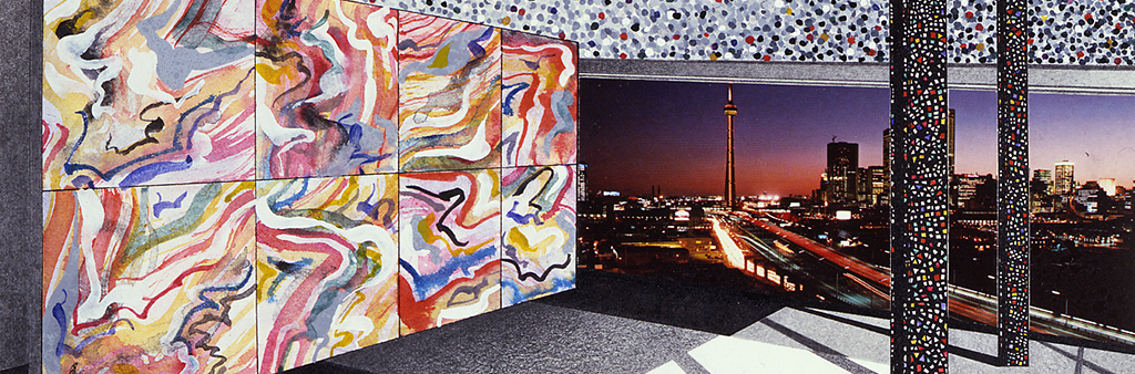 Cityscape by Margaret Priest, 1982, City of Toronto Art Collection