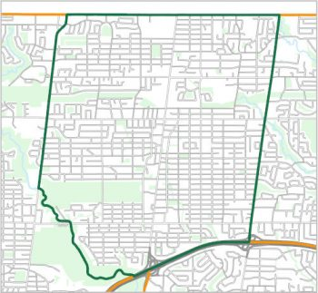 Map showing the boundary of Ward 18, one of the City of Toronto's 25 municipal wards effective December 1, 2018. For assistance with the content of this map, please email cityplanning@toronto.ca or call 416-392-8343.