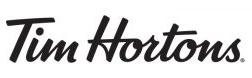 Black and white Tim Hortons logo