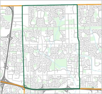 Map showing the boundary of Ward 22, one of the City of Toronto's 25 municipal wards effective December 1, 2018. For assistance with the content of this map, please email cityplanning@toronto.ca or call 416-392-8343.