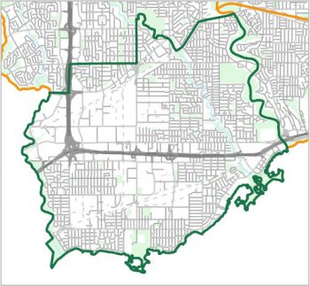 Map showing the boundary of Ward 3, one of the City of Toronto's 25 municipal wards effective December 1, 2018. For assistance with the content of this map, please email cityplanning@toronto.ca or call 416-392-8343.