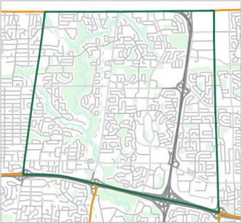 Map showing the boundary of Ward 17, one of the City of Toronto's 25 municipal wards effective December 1, 2018. For assistance with the content of this map, please email cityplanning@toronto.ca or call 416-392-8343.