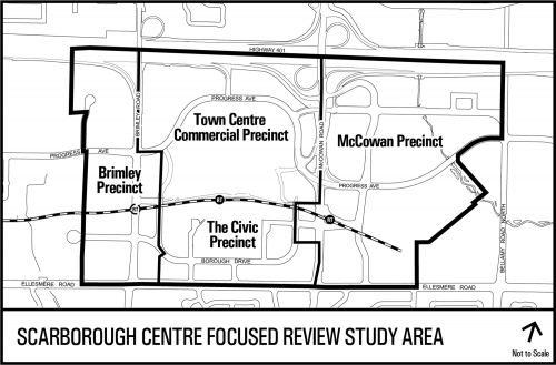 Map of Scarborough Centre Review Study Area