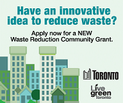 Poster for the new Waste Reduction Community Grant.