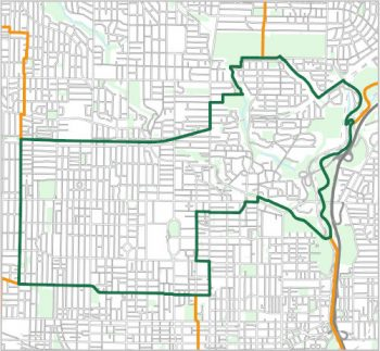 Map showing the boundary of Ward 11, one of the City of Toronto's 25 municipal wards effective December 1, 2018. For assistance with the content of this map, please email cityplanning@toronto.ca or call 416-392-8343.
