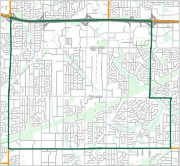 Map showing the boundary of Ward 21, one of the City of Toronto's 25 municipal wards effective December 1, 2018. For assistance with the content of this map, please email cityplanning@toronto.ca or call 416-392-8343.
