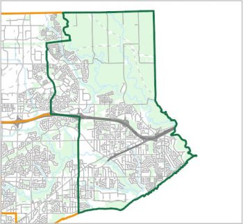 Map showing the boundary of Ward 25, one of the City of Toronto's 25 municipal wards effective December 1, 2018. For assistance with the content of this map, please email cityplanning@toronto.ca or call 416-392-8343.
