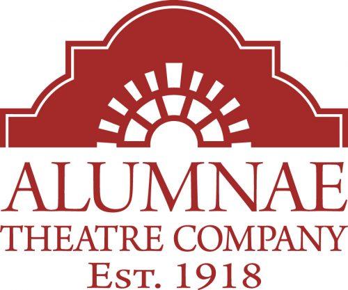 Alumnae Theater Company logo/wordmark. Red on white background.