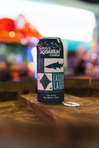 Can of Ripleys branded beer