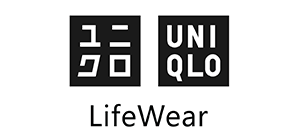 UNIQLO logo in black and white