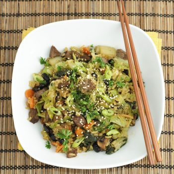 Napa Cabbage Sesame Chicken Stir Fry