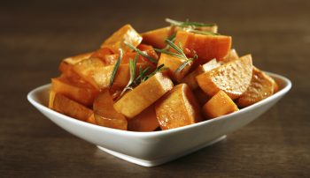 "Sweet Potato Bell Pepper Baked ""Home Fries"""