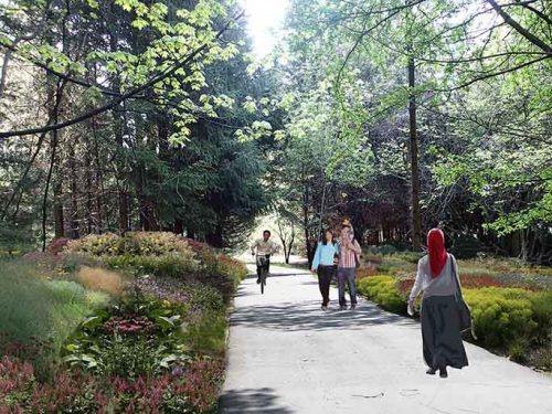 Concept rendering of Don Mills Trail revitalization