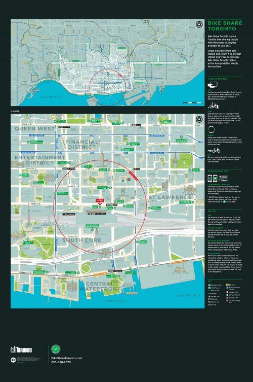 Image of the bikeshare wayfinding map.