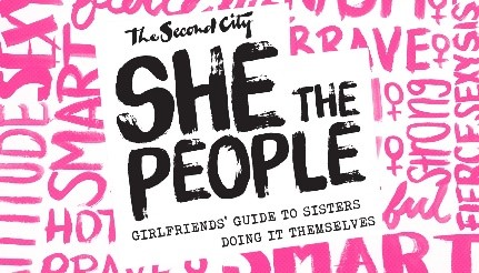 She does the City word graphic - text based. Pink and black text.