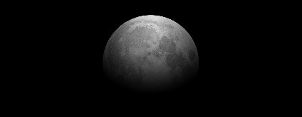 Black and white image of the moon.