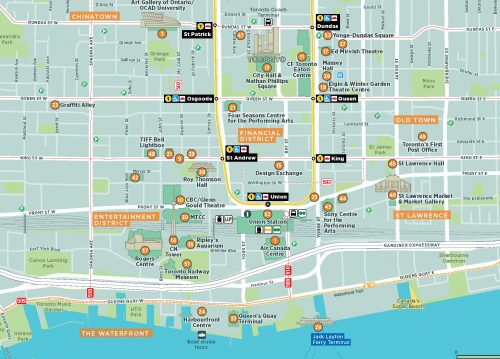 Image of the Toronto Visitor Map