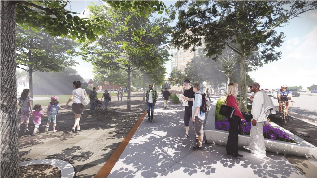 Rendering of the new Dundas Street West, facing east