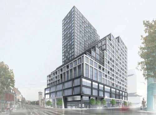 Rendering of the proposal for 161 Parliament St