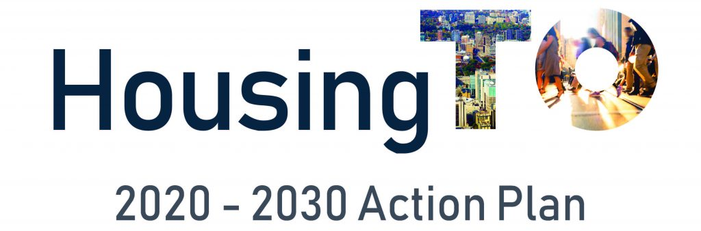 Housing TO: 2020-2030 Action Plan report cover logo