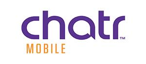 Purple and orange logo for Chatr mobile TM