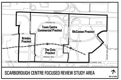 Context map showing Scarborough Centre Focused Review Study Area