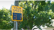 A speed sign reading Your Speed and showing the number 31.