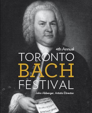 Toronto Bach Festival 2019 - black and white image of Bach