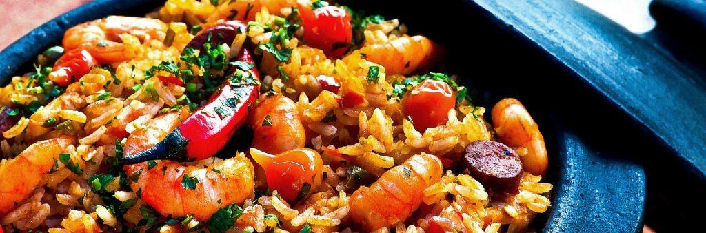 Bowl of shrimp jambalaya