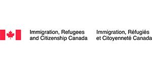 Immigration, Refugees and Citizenship Canada logo.