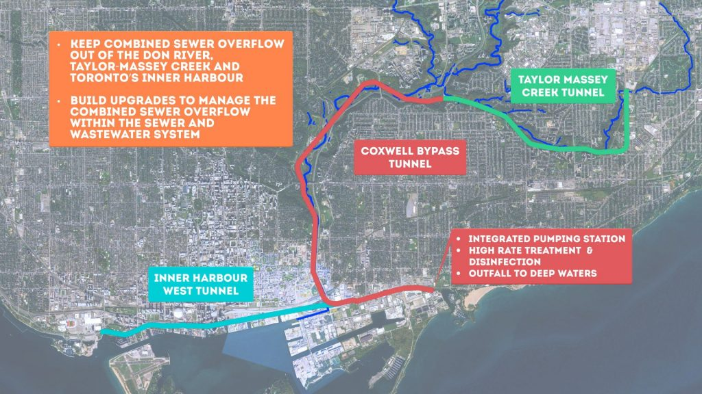 Map of the Don River and Central Waterfront Project