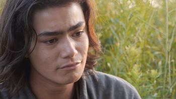 A still from WAASEYA of a man in despair. Part of Sovereign Bodies | Healthy Nations.