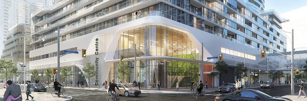 A rendering of the new community centre at One Yonge Street