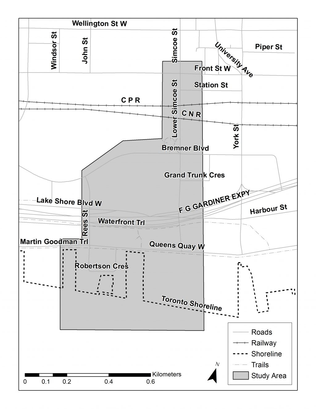 Study Area Map, please contact Mae Lee (mae.lee@toronto.ca, 416-392-8210) for assistance reading