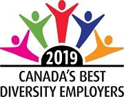 Logo reading 2019 Canada's Best Diversity Employers.