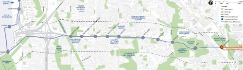 Plan showing proposed LRT route
