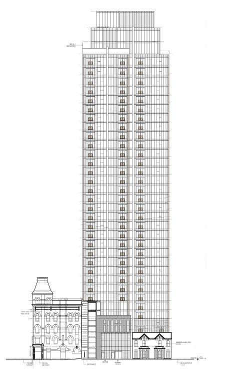 Elevation of the proposal for 2-8 Gloucester St