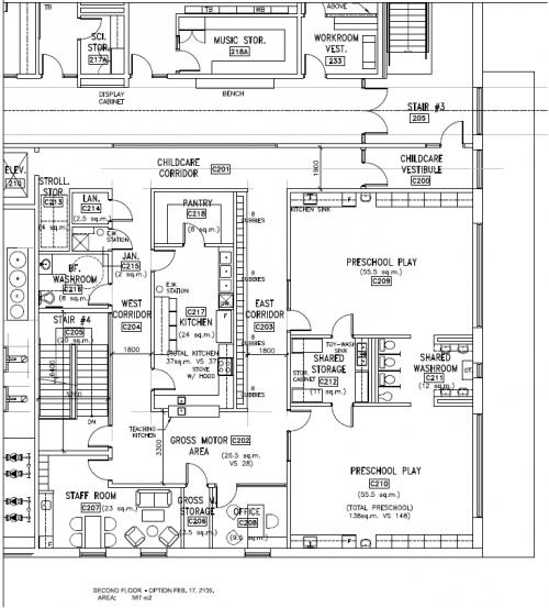 Second Floor Floorplan for Avondale Child Care