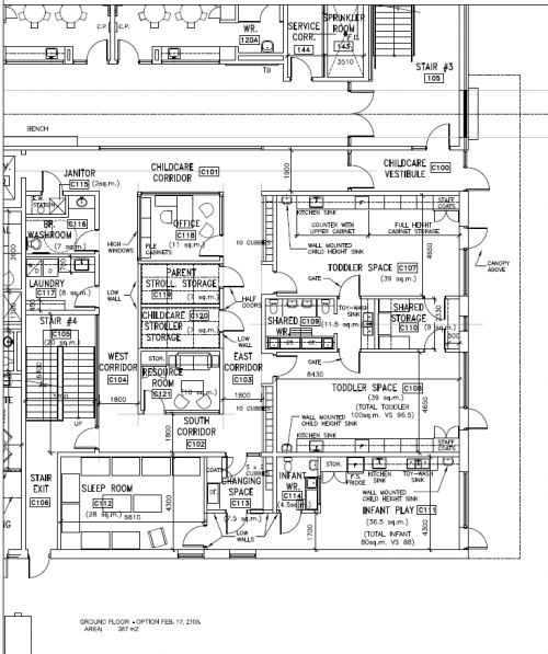 Ground Floor Floorplan for Avondale Child Care