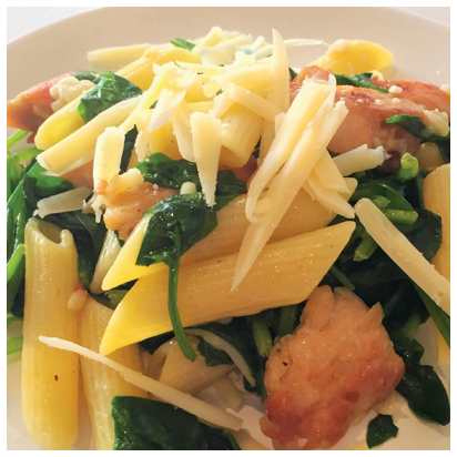 Picture of Penne with Chicken, Spinach & Asiago Cheese