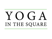 The words Yoga in the Square