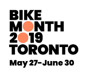 2019 Bike Month Toronto logo with dates: May 27 to June 30