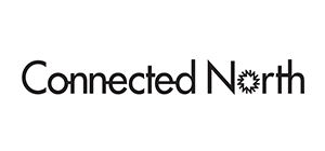 Connected North black and white logo